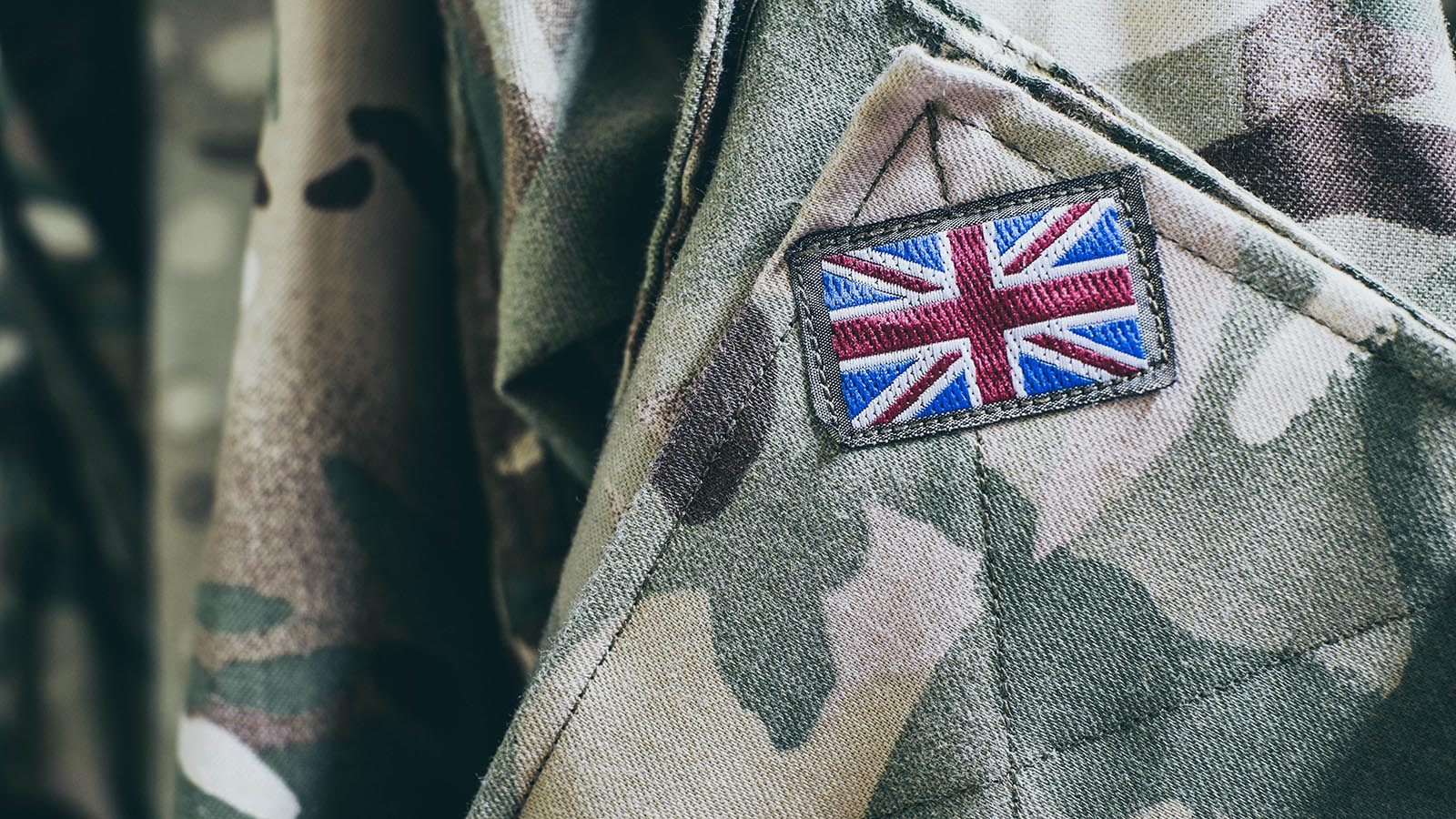 British flag on army jacket