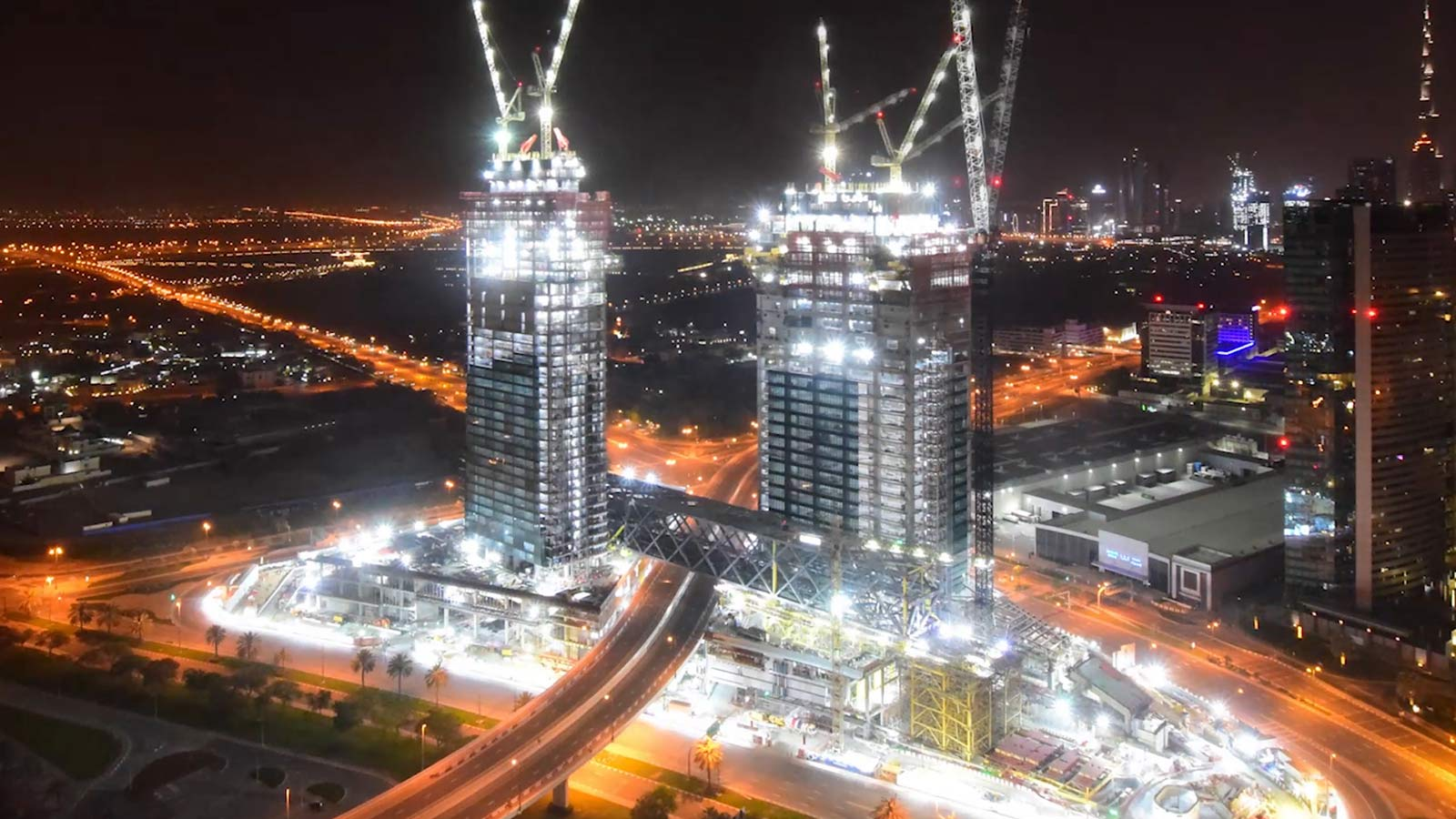 One Zabeel Sky Scrapper at Night - Mace Group