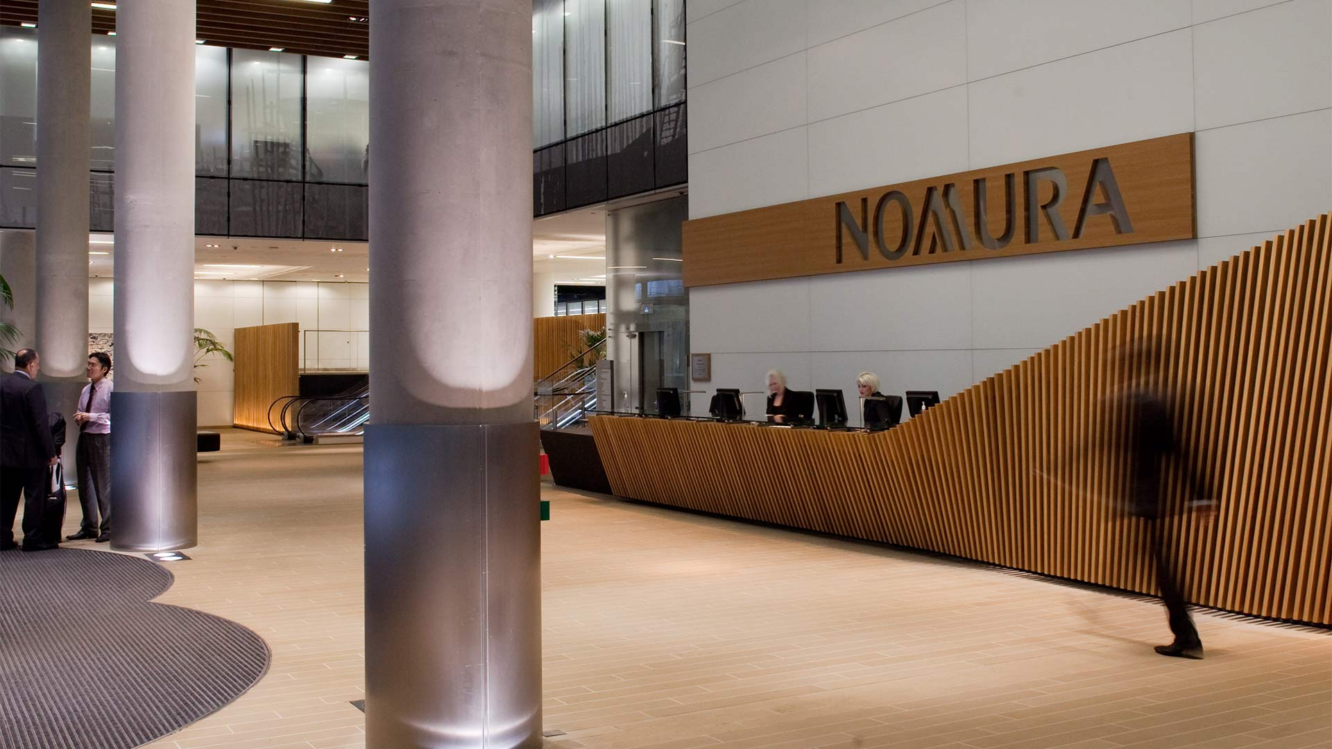 Nomura Building Reception Lobby - Mace Group