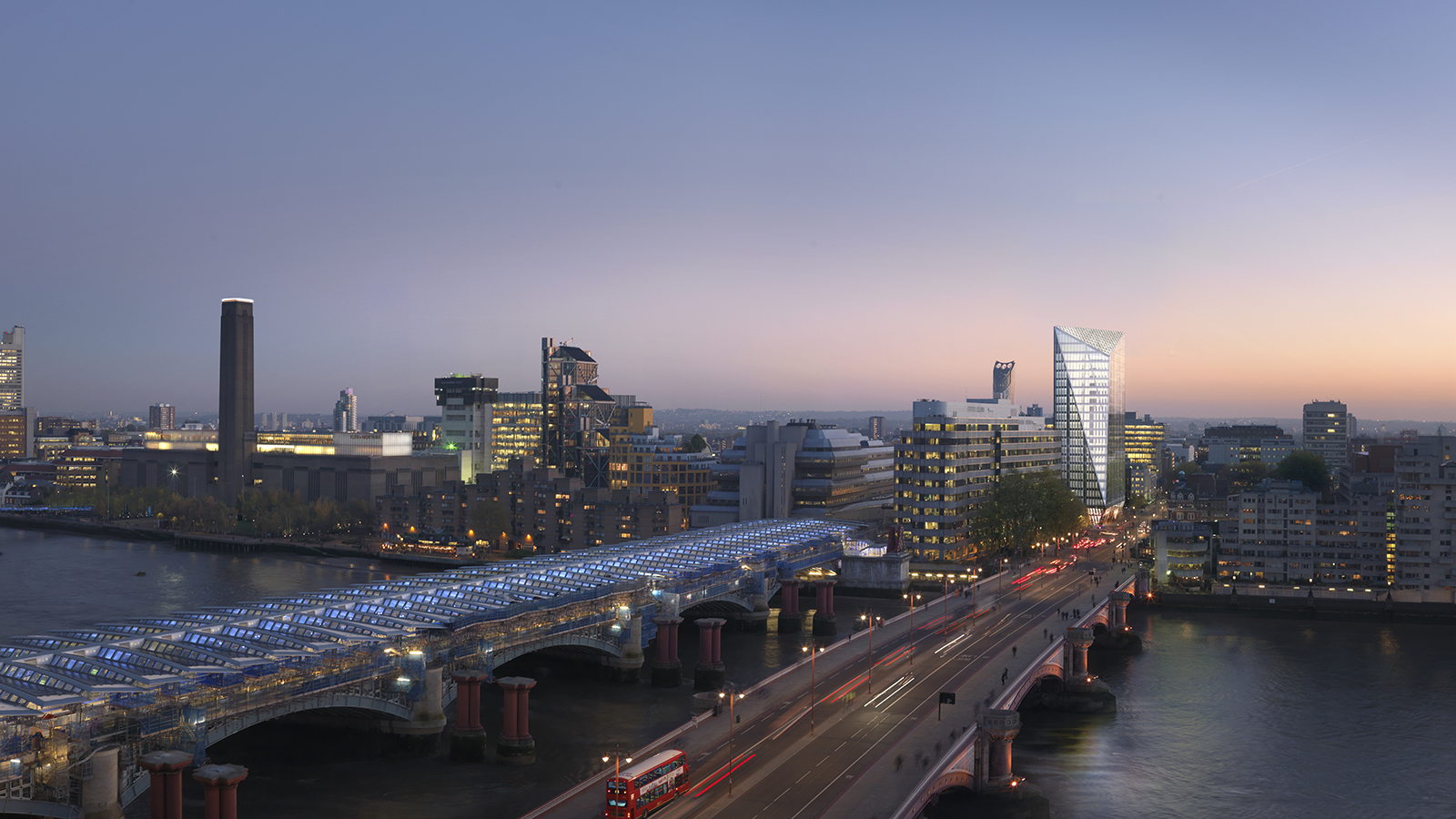 London Blackfriars Sunset View  - Mace Group