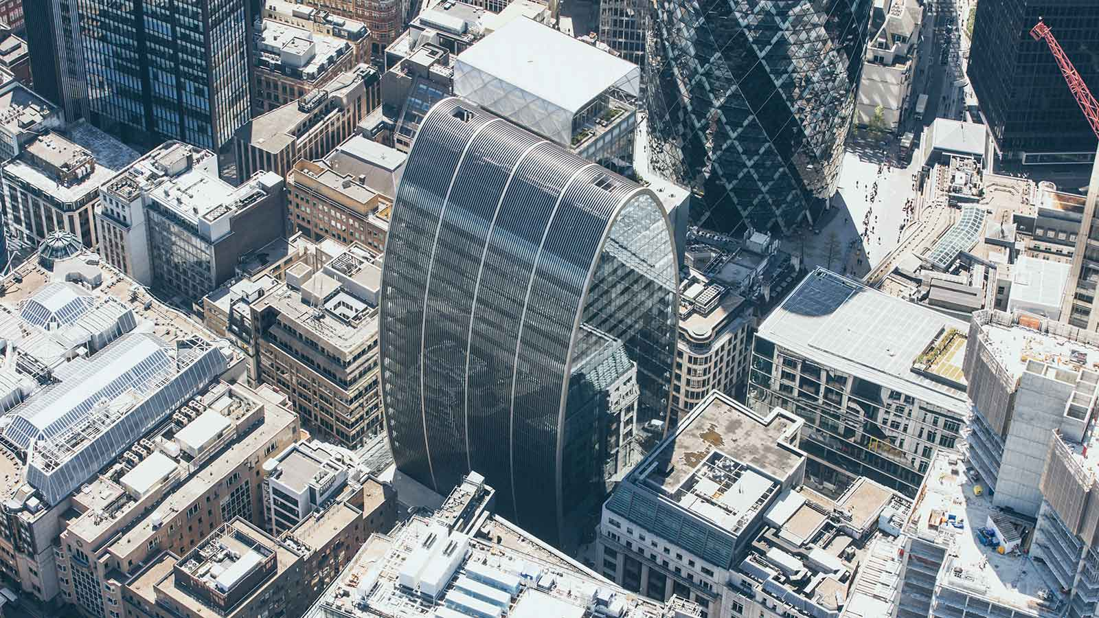 St Mary Axe London Aerial View - Mace Group