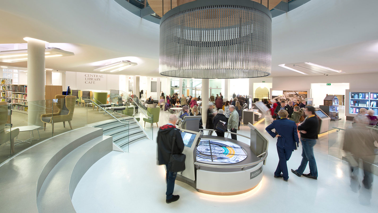 Visitors using the new facilities within the newly refurbished Central Library