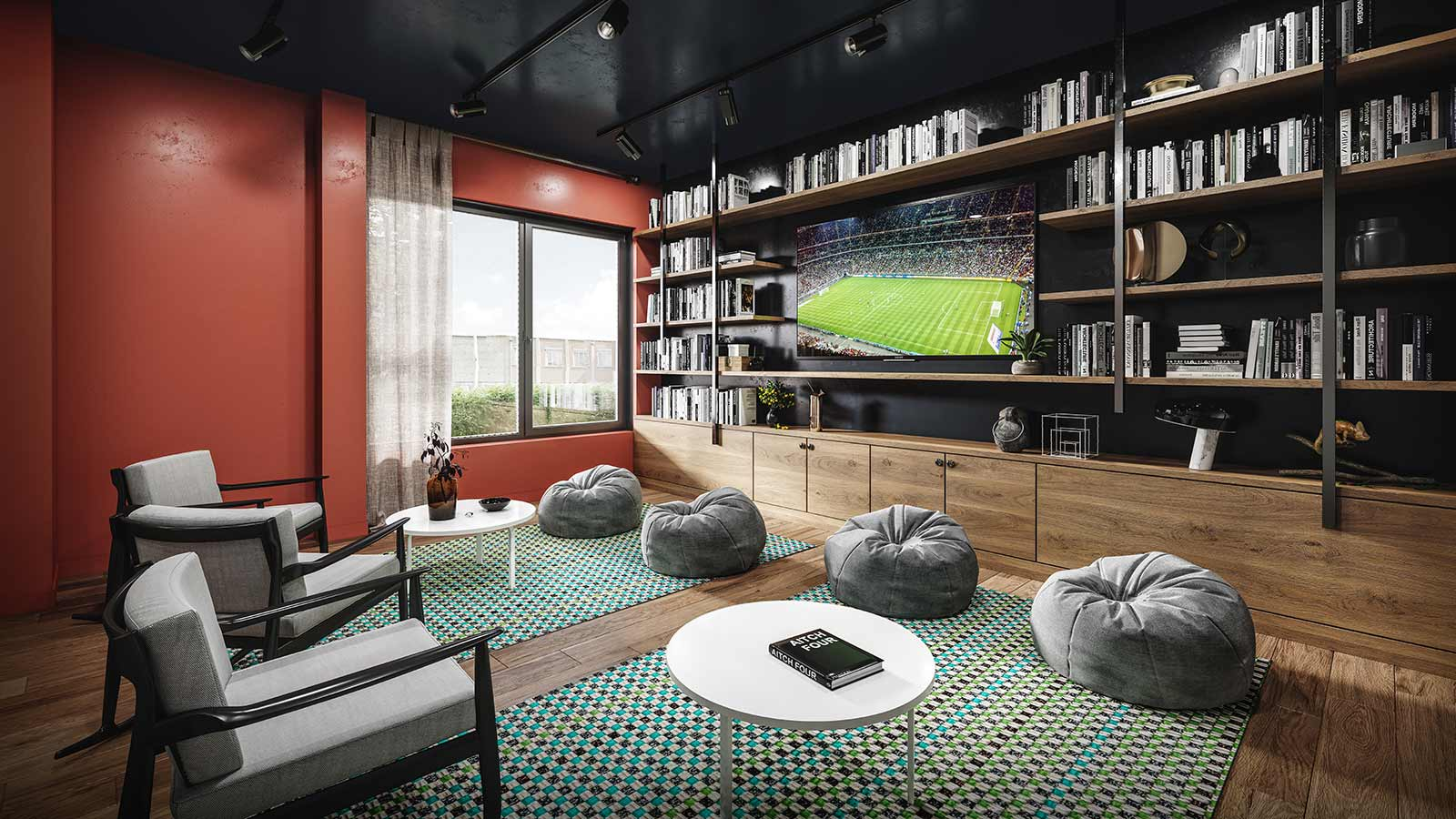 The West Wing communal sitting room